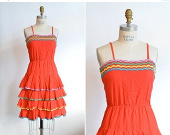 50% OFF SALE / Vintage 1970s ELEGANTIA made in ITaly party dress