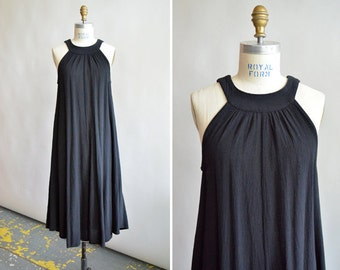 Vintage black designer PARACHUTE dress