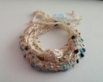 Beaded Crochet Love Knots Bracelet - Group # 06