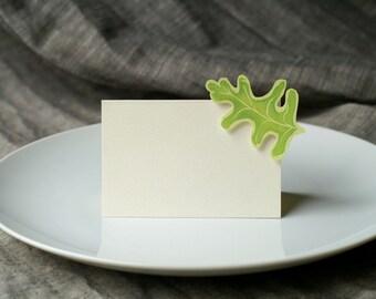 Oak Leaf - Place Card - Escort Card - Gift Card - Table Number Card - Menu Card -weddings events