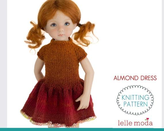 Knitting Patterns Little Dolls : Almond Dress Knitting Pattern Little Darling Dolls by