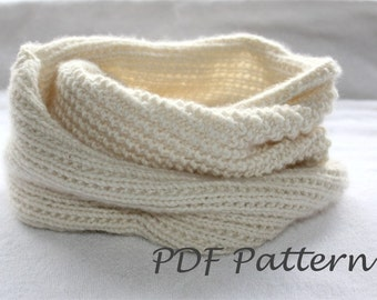 Knitting PATTERN- Snood Knitting Pattern PDF
