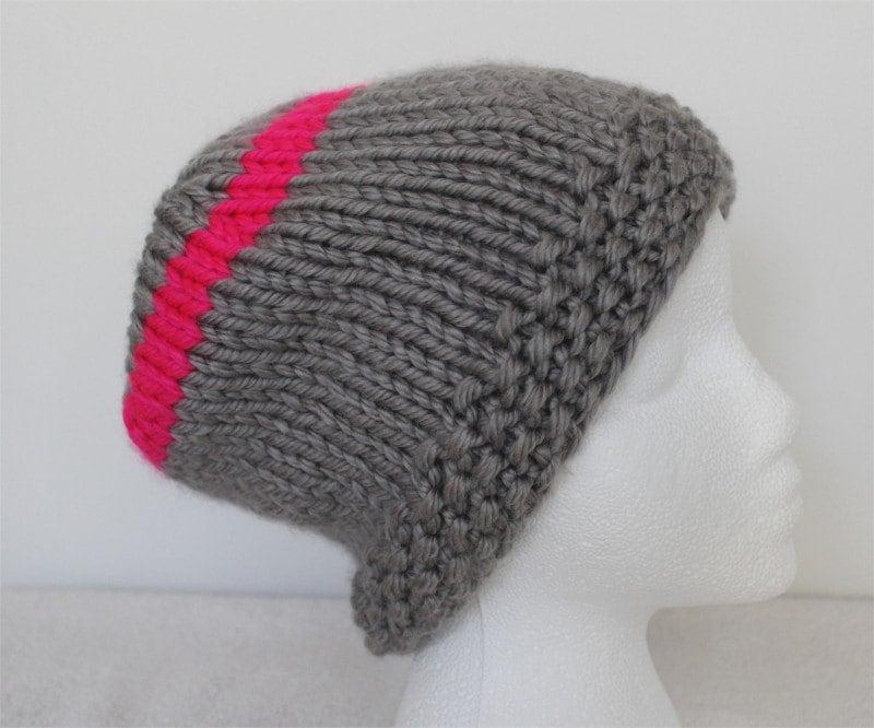 Knitting Patterns Baby Beanie Hats : Hat KNITTING PATTERN The Slouchy Beanie Hat baby large