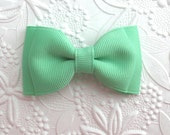Mint Green Hair Bow ~ Simple Mint Bow ~ Toddler Hair Bow ~ Hair Bows for Babies, Girls