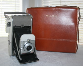 Vintage Polaroid Land Camera Model 80A Accessories and Case