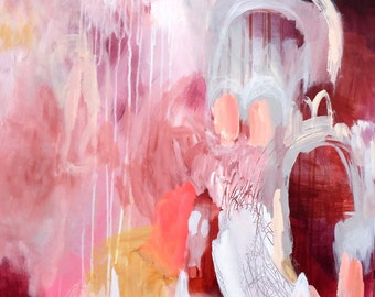 Blush Portal Large Abstract Contemporary Art Painting