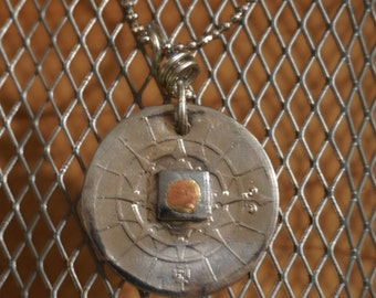Compass Coin Necklace / Portugal