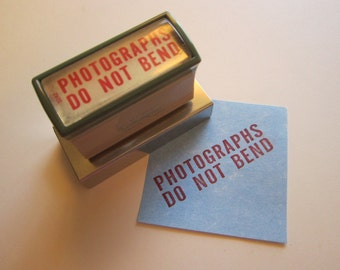 self inking office stamp - PHOTOGRAPHS DO NoT BEND - red ink