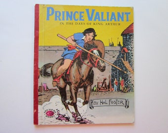 vintage children's book - PRINCE VALIANT - Hal Foster - 1954 Treasure Book
