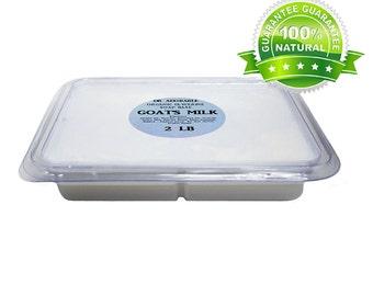 2 Lb  Melt &Pour Glycerine Soap Base with Goat Milk Tray