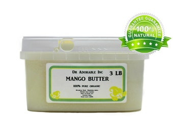3 LB  Raw Pure Organic Mango Butter Cold Pressed