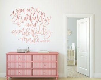 Vinyl Wall Sticker Decal Art - Fearfully and Wonderfully Made