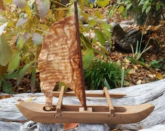 Antique Indonesian Boat Sculpture