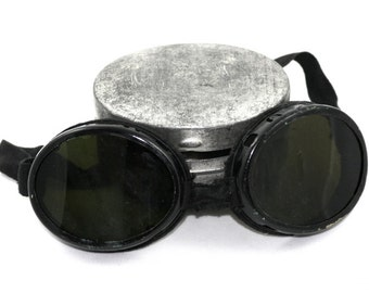 Vintage 1920's Swiss Military Glacier Goggles