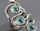 Evil Eye Ring Silver Branch Ring Dragon Eye Ring