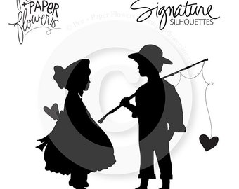 Vintage Valentine Boy and Girl - SIGNATURE SERIES
