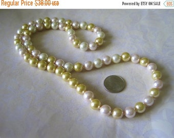 20% OFF ON SALE Multicolor Glass Pearl  Necklace, Gemstone Necklace