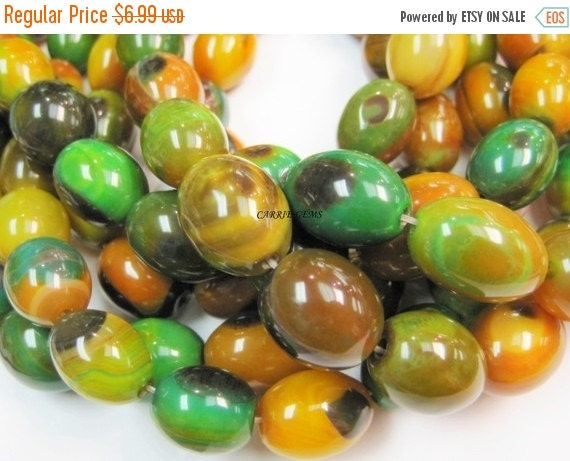 "20% OFF ON SALE Watermelon Agate Egg Shape 15mmx20mm, 8"" long, 9 pcs, Gemstone Beads"