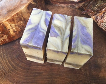 Lavender &  Sugared Violets Soap - Amber Extract - Herbal Soap