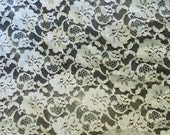 "Reserved For jakj2 Vintage Prairie Lace Fabric 5 yards x 58"" width / White Lace Fabric  /  Journal Fabric /  Book Arts  / Vintage Textles"