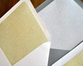 gold and silver GLITTER envelope liners