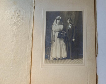 Vintage Wedding Photo Early 1900s Antique Wedding Black and White Picture