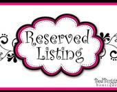 Reserved Listing for reynaldodejesus