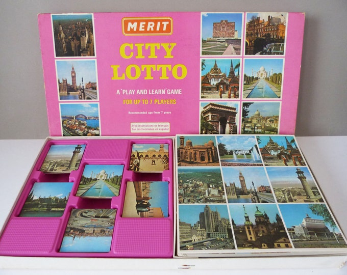 vintage city lotto game incomplete