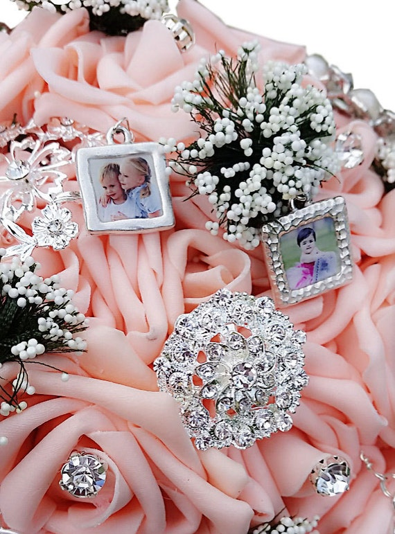 charms for wedding bouquets wedding bouquet photo charm custom personalized bridal 2564