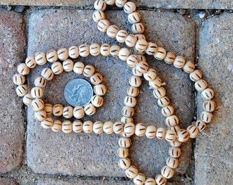Round Wood Beads:  9mm