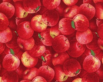 Red Apples - Elizabeth Studio - 1 yard - More Available - BTY