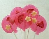 Strawberry Macaron Lollipops - Valentine Candy - just yum.
