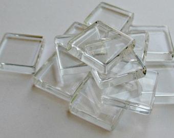 DESTASH - 16mm Glass Squares - 75 Count
