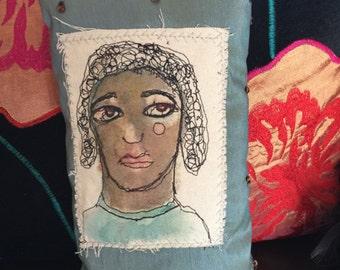 Art Contemplation of a Brown Girl - Art Pillow by Trish Vernazza