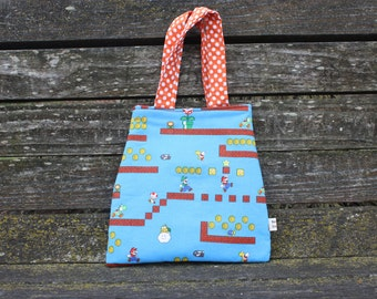 Toddler Tote Super Mario Bros Tote Super Mario Bag Nintendo Bag Nintendo Tote Kids Tote Video Game Tote