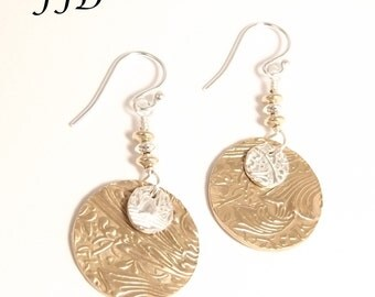 Sterling Silver, Fine Silver, Gold and Bronze Earrings