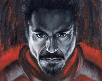 Ironman Painting Avengers Pop Art Stretched Canvas Print