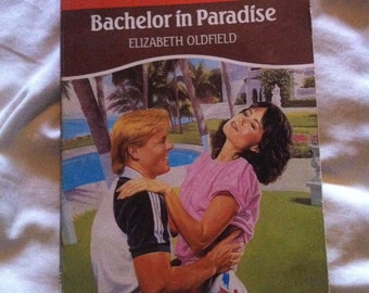 Vintage 80s mills & boon book Bachelor in Paradise by Elizabeth Oldfield