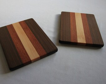 Two Small Walnut Cheese Boards