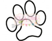 Paw Print Applique Machine Embroidery Design INSTANT DOWNLOAD