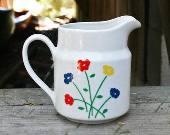Vintage Ceramic Floral Pitcher by Takahahi Japan
