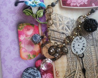 1950s by Moonlight vintage assemblage necklace