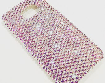 For Galaxy J3 2016- Iridescent Crystal AB - Aurora Borealis - Diamond Rhinestone BLING Back Case made with Swarovski Elements