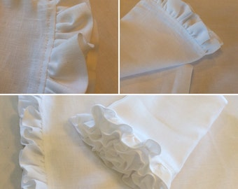 "Linen Pillowcase with a 1 1/2"" Ruffle"