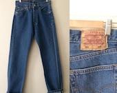 """Vintage Womens Levi's 501 Blue Jeans / 26"""" waist / 29"""" leg / XS S"""