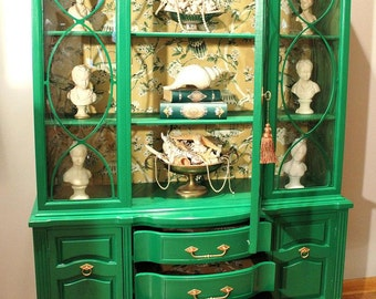Protfolio - Vintage Emerald  China Cabinet (sold)