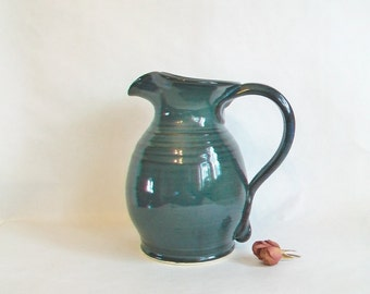 Teal / Blue/Green  Pitcher - Handmade on the Potters Wheel - Ready to Ship for Mothers Day