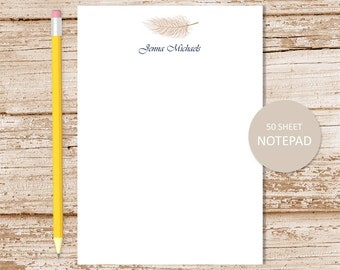 personalized feather notepad . quill feather notepad . feathers note pad . stationery . custom stationary