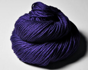 Artifical damson - Silk/Merino DK Yarn superwash