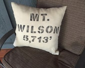 MT. WILSON PILLOW with Elevation
